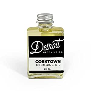 Detroit Grooming Co. Grooming Oil - Corktown - Oil For All Beards | Helps Soften And Condition Dry And Itchy Beards