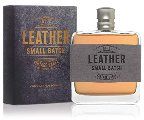 Leather No. 2 Small Batch Vintage Label by Tru Fragrance and Beauty - Authentic Fragrance Perfume for Men - Bold Masculine Scent - Woody Notes - 3.4 oz from Tru Fragrance & Beauty