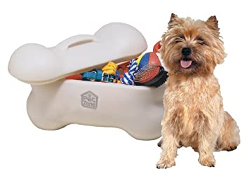 Pet Supplies : OurPets Big Bone Pet Toy Storage Bin : Pet Food Storage  Products : Amazon.com