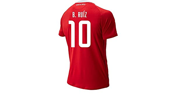 2dbf15cf676 Amazon.com   New Balance B. RUIZ  10 Costa Rica Home Soccer Men s Jersey  FIFA World Cup Russia 2018 (2XL)   Sports   Outdoors