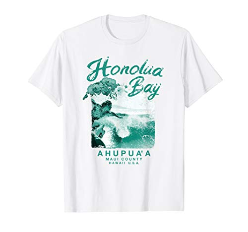 Hawaii Honolua Bay Maui Vintage Hawaiian Surfing T Shirt