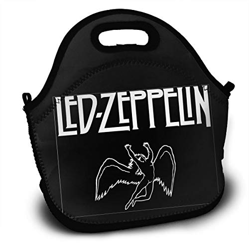 Sunmoonet Insulated Lunch Bag Led Zeppelin Bento Lunch Bag Backpack Fresh Lunch Bags for Adult