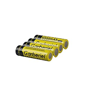 JiSell Button Top Rechargeable Battery for LED Headlamp and Flashlight(NOT AA battery)