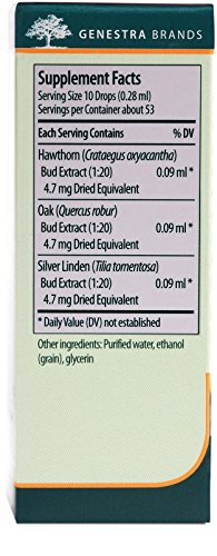 Genestra Brands - Renu-gen - Hawthorn, Oak, and Silver Linden Herbal Supplement - 0.5 fl. oz. by Genestra Brands (Image #1)'