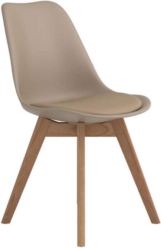 Coaster Home Furnishings Breckenridge Upholstered Tan and Oak (Set of 2) Side Chair
