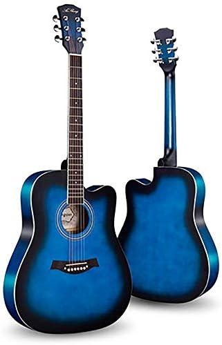 アコースティックギター ベニヤ初心者ギターフェイス単一のエントリピアノ練習アコースティックギター 初心者 ギター愛好家向け 大人用 子供用 (色 : D, Size : 41 inches)