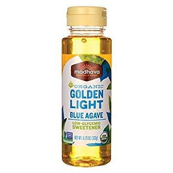 Madhava Organic, Golden Light Blue Agave, Neutral Mild Flavor, 11.75 oz