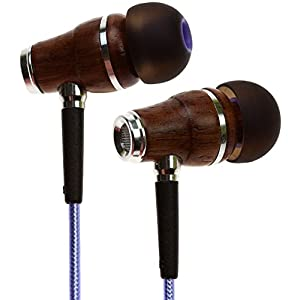 Symphonized NRG 2.0 Wood Earbuds Wired, in Ear Headphones with Microphone for Computer & Laptop, Noise Isolating…