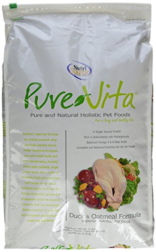 Tuffies Pet Food Tuffies Pet Pure Vita Duck/Oatmeal Dry Dog Food 15 Lb bag Dry Food