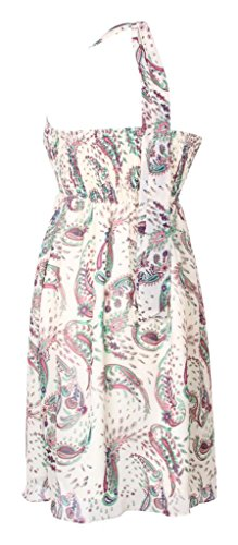 MY EVENING DRESS - Vestido - cuello hálter - Floral - Sin mangas - para mujer Parsley Print White