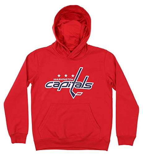 Outerstuff NHL Youth Boy's (8-20) Primary Logo Team Color Fleece Hoodie, Washington Capitals X-Large(18)