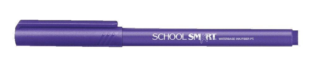 School Smart Felt Tip Pens - Pack of 12 - Purple