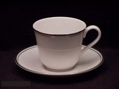 Royal Doulton Oxford Platinum #TC1227 Cups & Saucers (Oxford Royal Doulton China)