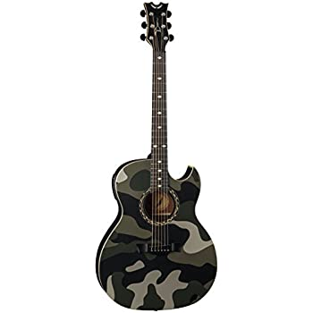 Dean EX CAMO Exhibition Acoustic Electric Guitar With Aphex Desert Camo