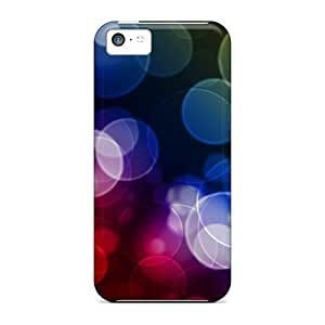 Case Cover For Iphone 5c Strong Protect Case - Color Bubbles Design