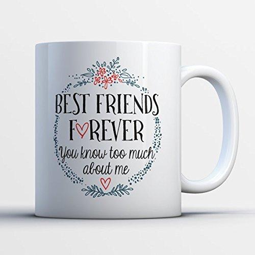 Stuffy Blue Dragon Costume (Mug for Besties - You Know Too Much - Best Friends Forever - Custom BFF Mugs - Cute Friendship Gifts for Her - Funny Sister Quotes Cup)