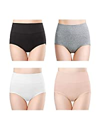 wirarpa Womens 4 Pack Soft High Waist Bamboo Modal Underwear Plus Size Panties
