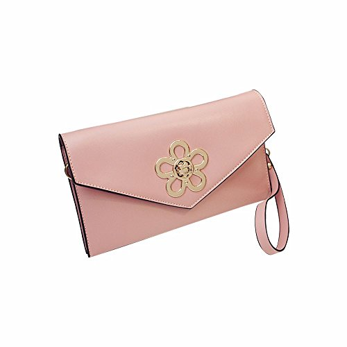 Shoulder Pink Woman And Bag Leather Jin vtwF8qY
