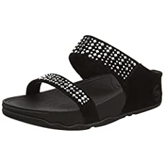 fitflop womens rokkit crystal slide sandal