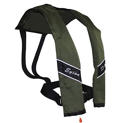 Eyson Slim Inflatable PFD Life Jacket Life Vest Adult Automatic (Olive)