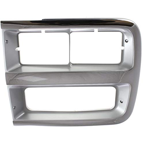 Headlight Door For 1992-1994 Chevrolet G20 Left Chrome and Gray
