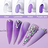 Makartt Poly Nail Extension Gel Kit, Purple Nail