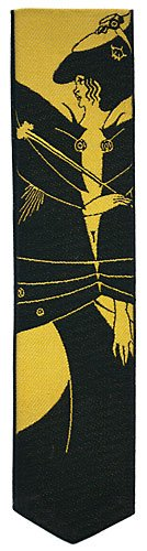 'Jacquard Woven Silk bookmark - Aubrey Beardsley ''The Black Cape''' Papilionaceous Ltd