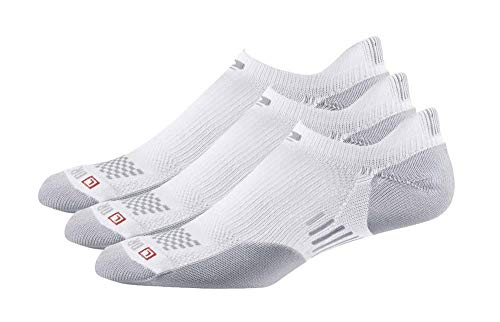 Drymax R-Gear No Show Running Socks for Men & Women (3-pairs) | Super Breathable Keep Feet Dry, Comfy and Blister-Free, L, White, MediumCushion