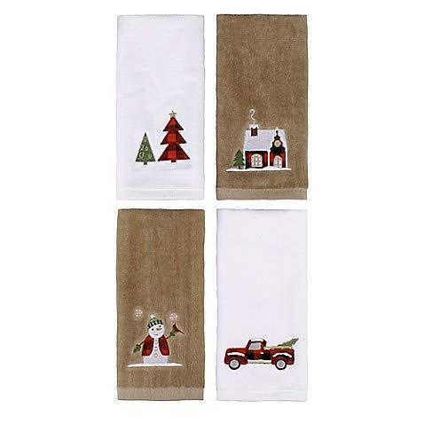 (Holiday Plaid Fingertip Towels (Set of 4))