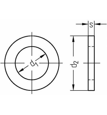 Reidl Pa/ßscheiben 40 mm DIN 988 Stahl blank 10 St/ück