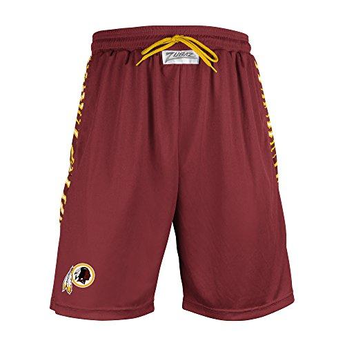 Washington Redskins Shorts (NFL Washington Redskins Men's Zubaz Zebra Print Accent Team Logo Active Shorts, XX-Large, Burgundy)