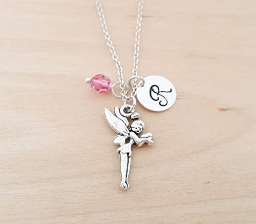 Fairy Tinkerbell Charm Personalized Sterling Silver Necklace