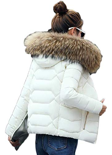 Women's Weight 2 Down Hooded Fur Faux Packable Collar Short Jacket security Light wdqfaSf