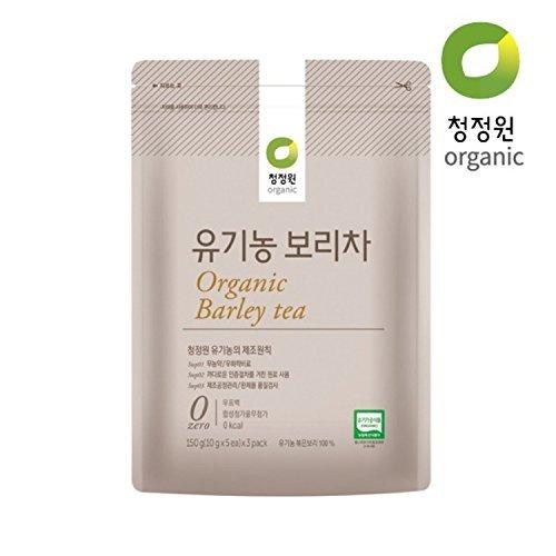 100% Organic Barley Tea, 10g X 15 Unbleached Teabags, Sugar Free, Caffeine Free ()