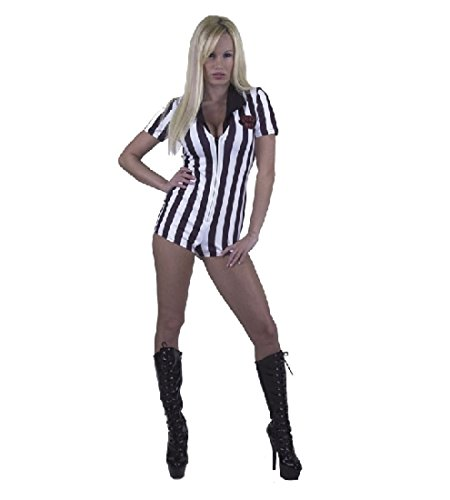 [Foxy Referee Adult Costume Small dress size 5-7] (Woman Referee Costume)
