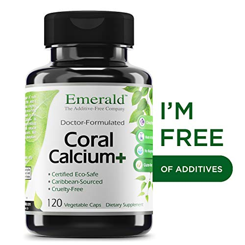 (Coral Calcium Plus -Highly Ionizable Coral Calcium from the Caribbean Sea - Helps Balance pH Levels, Support Strong Bones & Teeth, Weight Loss - Emerald Laboratories - 120 Vegetable Capsules )