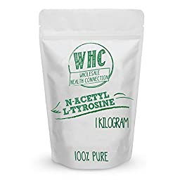 WHC N-Acetyl L-Tyrosine (NALT) Powder | Nootropic | Cognitive Enhancer | Memory | Learning | Focus | Concentration | Boosts Mental and Physical Energy During Sleep Deprivation (1kg (2857 Servings))