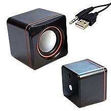 Mini Portable USB Square Style Computer PC Laptop Audio Sounder Speaker Small MP3 Sound Box
