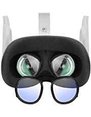 Esimen Oculus Quest 2 Anti-Blue Lens Frame,Lens Protection Frame Protecting Myopia Glasses from Scratching VR Headset for Oculus Quest,Rift S or Oculus Go Insertion Myopia Lens Frame (Black)
