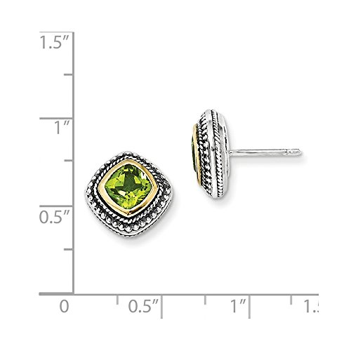 Sterling-Silver-w-14k-Yellow-Gold-Plated-Peridot-Vintage-Style-Earrings-04IN-x-04IN