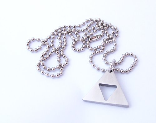 Zelda Triforce Matte Necklace - Stainless Steel by Milkool (Image #4)'