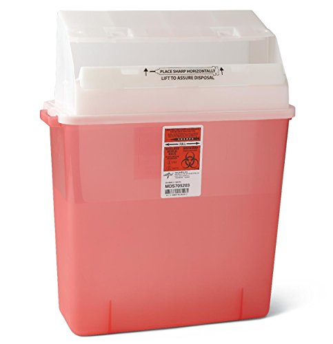 Medline MDS705203H Biohazard Multi Purpose Containers