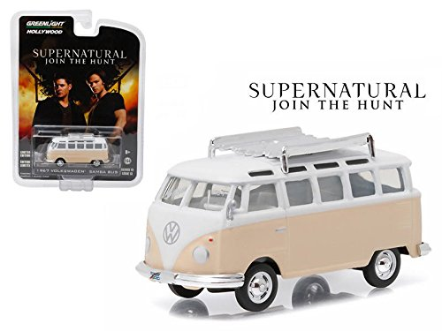New 1:64 Hollywood Series 13 Collection - SUPERNATURAL (2005) BEIGE 1967 VOLKSWAGEN SAMBA BUS Diecast Model Car By Greenlight