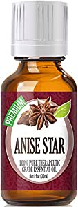 Healing Solutions Anise Star (30ml) 100% Pure, Best Therapeutic Grade Essential Oil - 30ml/1 (oz) Ounces