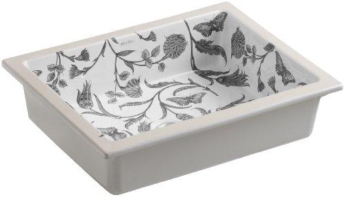 KOHLER K-14275-BT-0 Botanical Study Design on Kathryn Undercounter Bathroom Sink, White