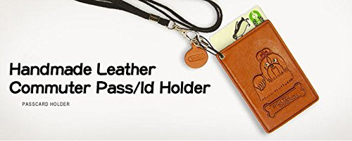 Jack Russell Terrier Leather Dog Pass//ID//Card Holder//CaseVANCA Handmade in Japan