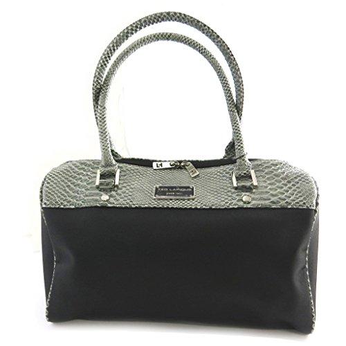 Bolsa 'Ted Lapidus'gris negro.