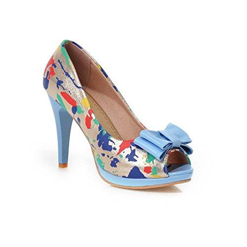 Adee , Damen Sandalen, Schwarz - blau - Größe: 38