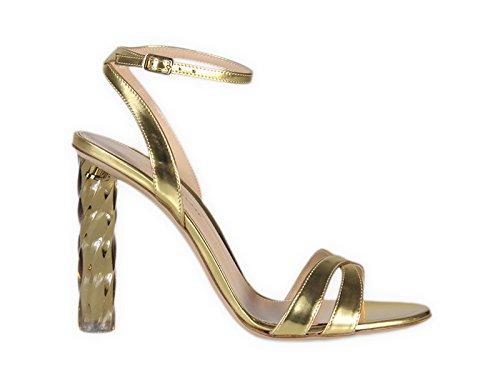 Gianvito Rossi Mujer G3089715PLEMETMEKO Oro Cuero Sandalias