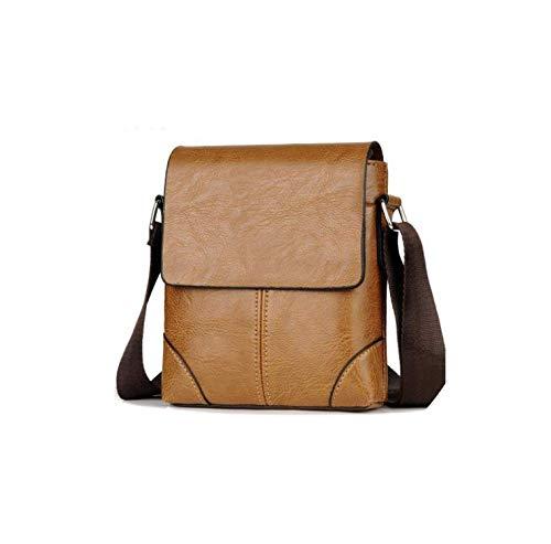 Men Crossbody Bag Fashion Leather Shoulder Bag Casual Black Business Mens Hand Bag for Phone,Yellow,20Cm-30Cm